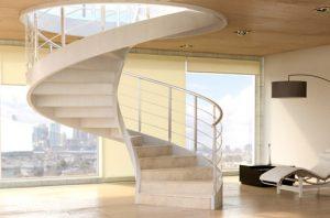 Escalera helicoidal de diseño en hormigón