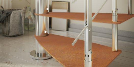 Peldaños de acero para escaleras de caracol