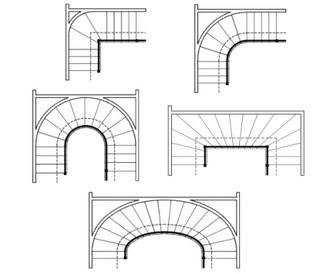 planos de escaleras rectas