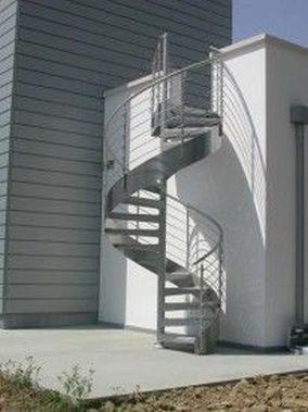 Escalera Helicoidal de acero inoxidable para exterior