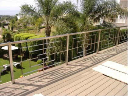 Barandilla decorativa de acero inoxidable para terrazas