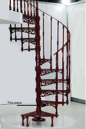 Escalera de caracol metálica de forja