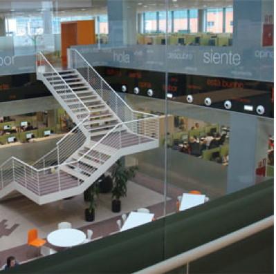 Escalera centros comerciales