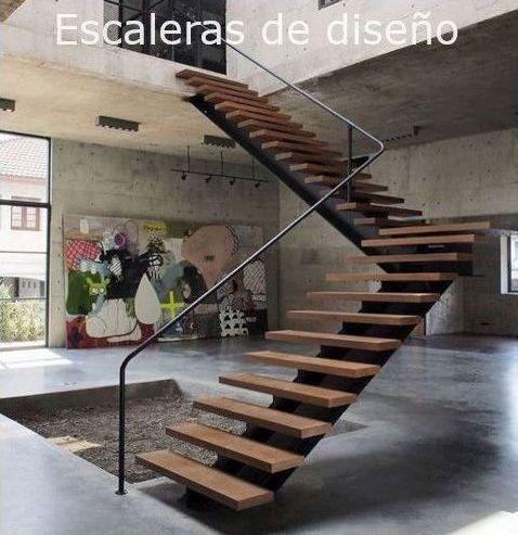 Escalera recta en L de diseño