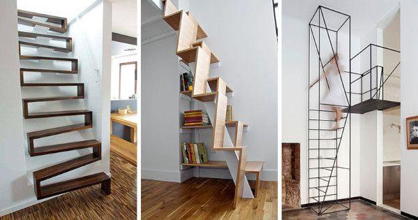Diseños modernos de escaleras para poco espacio