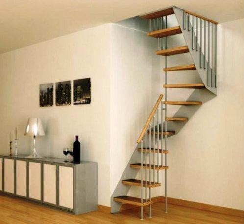 escalera moderna para espacios reducidos